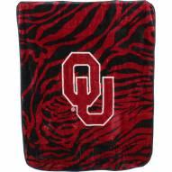 Oklahoma Sooners Raschel Throw Blanket