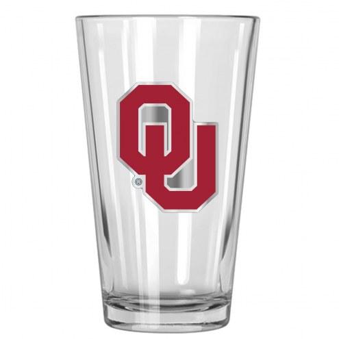 Oklahoma Sooners College 16 Oz. Pint Glass 2-Piece Set