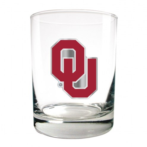 Oklahoma Sooners College 2-Piece 14 Oz. Rocks Glass Set