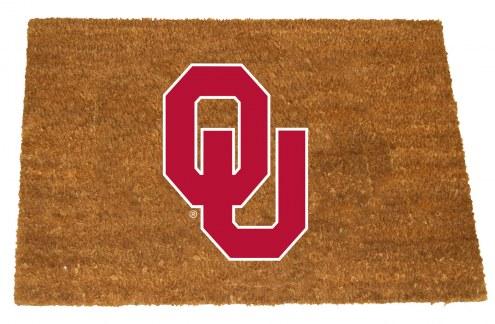 Oklahoma Sooners Colored Logo Door Mat