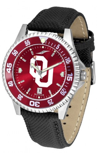 Oklahoma Sooners Competitor AnoChrome Men's Watch - Color Bezel