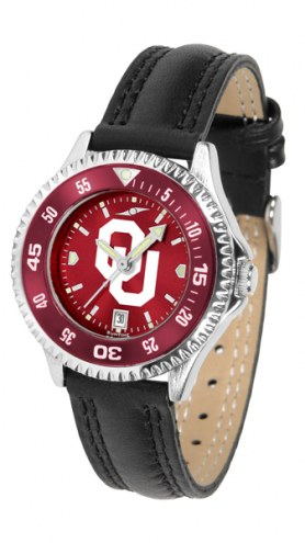 Oklahoma Sooners Competitor AnoChrome Women's Watch - Color Bezel