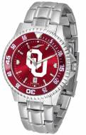 Oklahoma Sooners Competitor Steel AnoChrome Color Bezel Men's Watch
