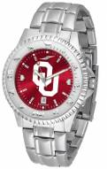 Oklahoma Sooners Competitor Steel AnoChrome Men's Watch