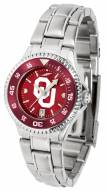 Oklahoma Sooners Competitor Steel AnoChrome Women's Watch - Color Bezel