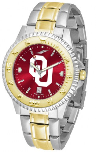 Oklahoma Sooners Competitor Two-Tone AnoChrome Men's Watch