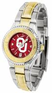Oklahoma Sooners Competitor Two-Tone AnoChrome Women's Watch