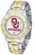 Oklahoma Sooners Competitor Two-Tone Men's Watch
