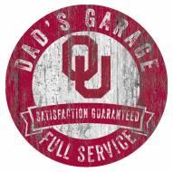 Oklahoma Sooners Dad's Garage Sign