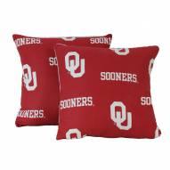 Oklahoma Sooners Decorative Pillow Set