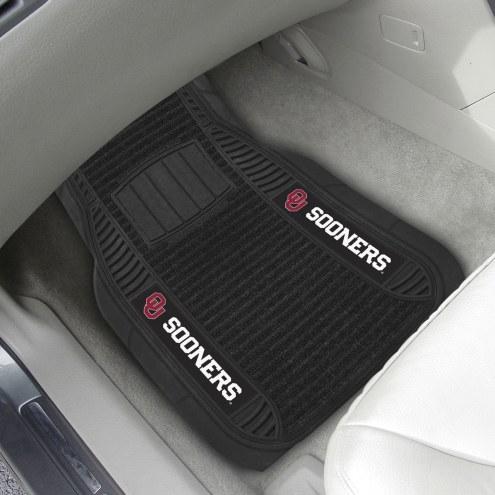 Oklahoma Sooners Deluxe Car Floor Mat Set