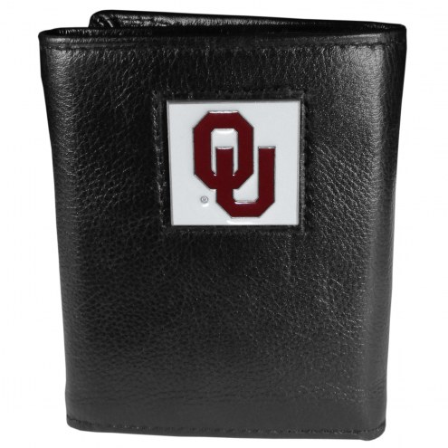 Oklahoma Sooners Deluxe Leather Tri-fold Wallet