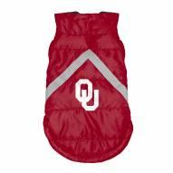 Oklahoma Sooners Dog Puffer Vest
