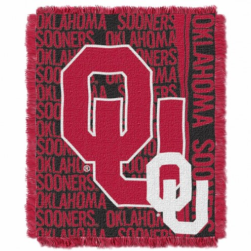 Oklahoma Sooners Double Play Woven Throw Blanket