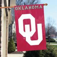 Oklahoma Sooners NCAA Applique 2-Sided Banner Flag