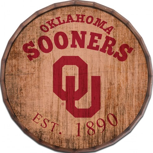 "Oklahoma Sooners Established Date 16"" Barrel Top"