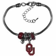 Oklahoma Sooners Euro Bead Bracelet
