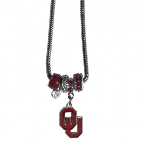 Oklahoma Sooners Euro Bead Necklace