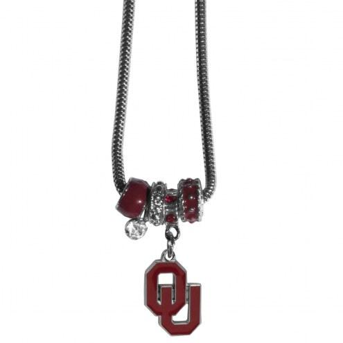 Oklahoma Sooners Euro Bead Necklace