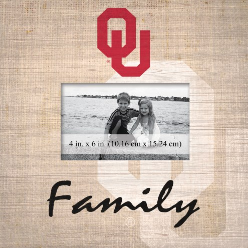 Oklahoma Sooners Family Picture Frame