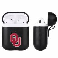 Oklahoma Sooners Fan Brander Apple Air Pods Leather Case