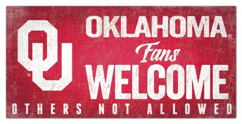 Oklahoma Sooners Fans Welcome Sign