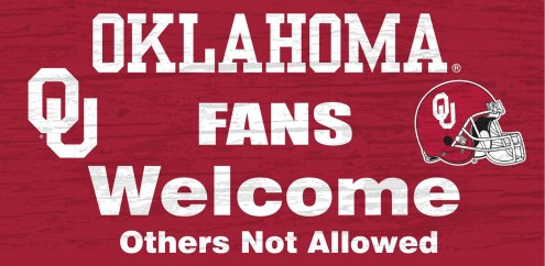 Oklahoma Sooners Fans Welcome Wood Sign