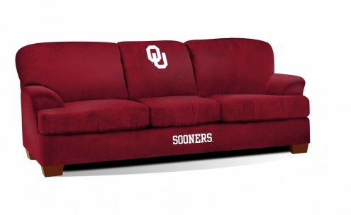 Oklahoma Sooners First Team Microfiber Sofa