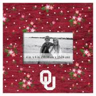 """Oklahoma Sooners Floral 10"""" x 10"""" Picture Frame"""