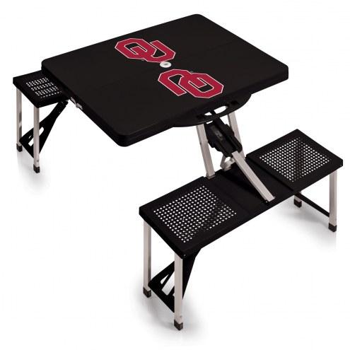 Oklahoma Sooners Folding Picnic Table