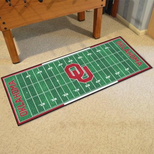 Oklahoma Sooners Football Field Runner Rug