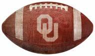 Oklahoma Sooners Football Shaped Sign
