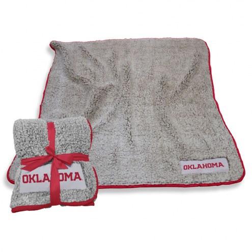 Oklahoma Sooners Frosty Fleece Blanket