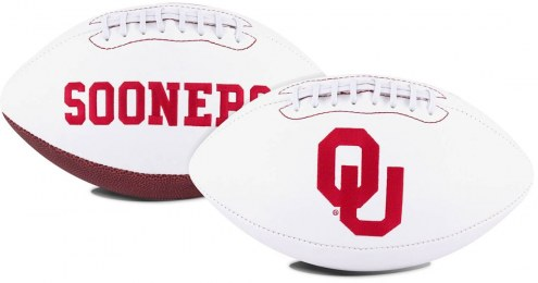 Oklahoma Sooners Full Size Embroidered Signature Series Football