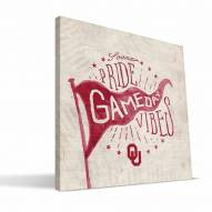 Oklahoma Sooners Gameday Vibes Canvas Print