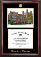 Oklahoma Sooners Gold Embossed Diploma Frame with Lithograph