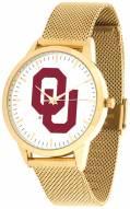 Oklahoma Sooners Gold Mesh Statement Watch