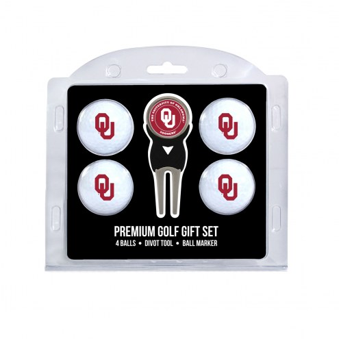 Oklahoma Sooners Golf Ball Gift Set