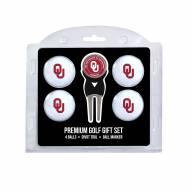 Oklahoma Sooners Golf Ball Gift Set