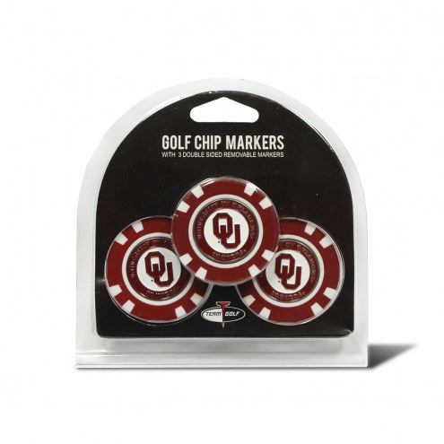 Oklahoma Sooners Golf Chip Ball Markers