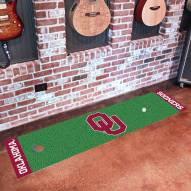 Oklahoma Sooners Golf Putting Green Mat