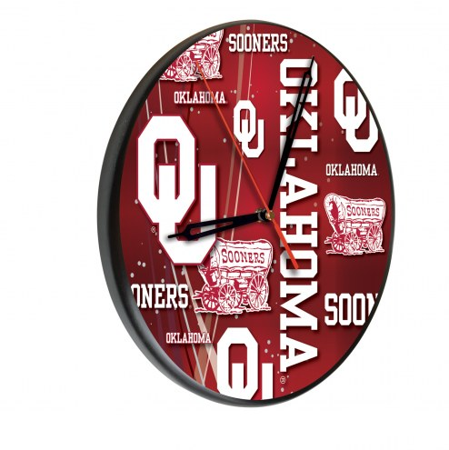 Oklahoma Sooners Digitally Printed Wood Clock