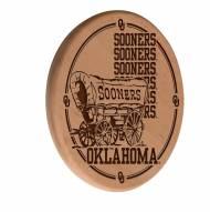 Oklahoma Sooners Laser Engraved Wood Sign