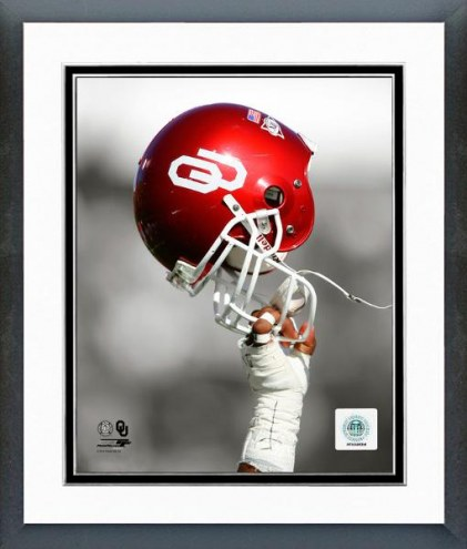 Oklahoma Sooners Helmet Spotlight Framed Photo