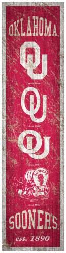 Oklahoma Sooners Heritage Banner Vertical Sign