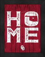 Oklahoma Sooners Home Away From Home Wall Decor