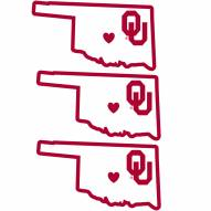 Oklahoma Sooners Home State Decal - 3 Pack