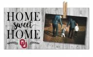 Oklahoma Sooners Home Sweet Home Clothespin Frame