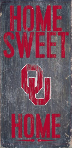 Oklahoma Sooners Home Sweet Home Wood Sign