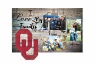 Oklahoma Sooners I Love My Family Clip Frame